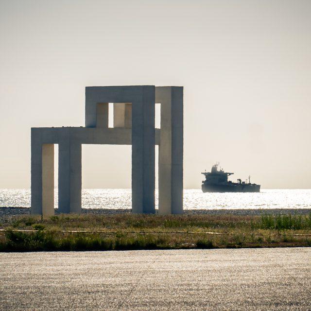Sculpture UP#3 de Lang et Baumann. Sony A6400 Sony 18-105mm F4. Le Havre 24/05/2020.