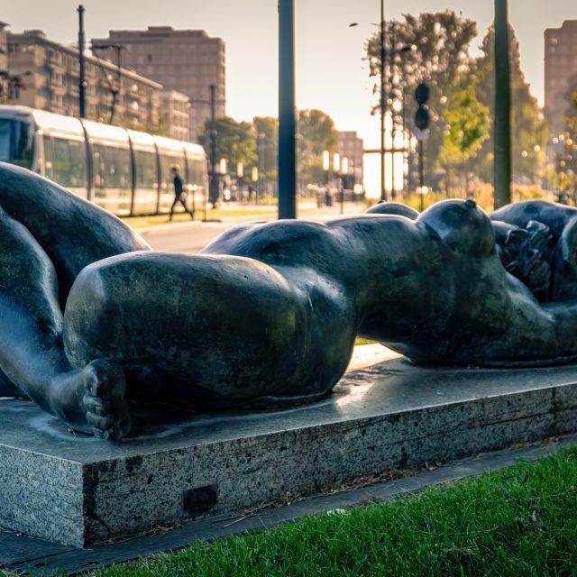 Sculpture «L'Été» de Bernard Mougin. Sony A6400 Sony 18-105mm F4. Le Havre 24/05/2020.